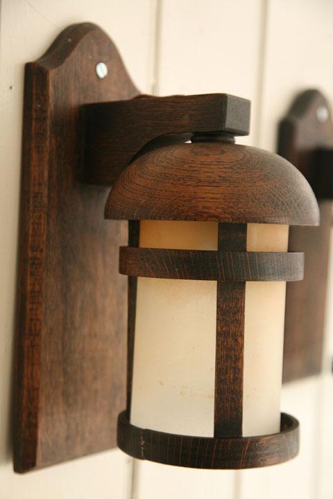 1940s Wooden Wall Lights
