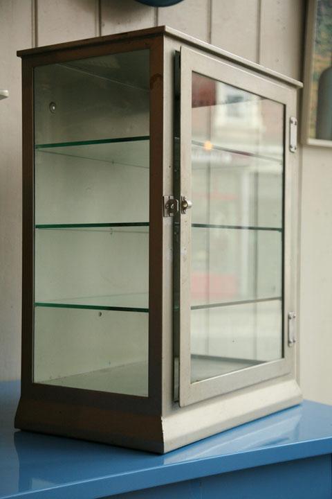 1950s Industrial Metal Cabinet (1)