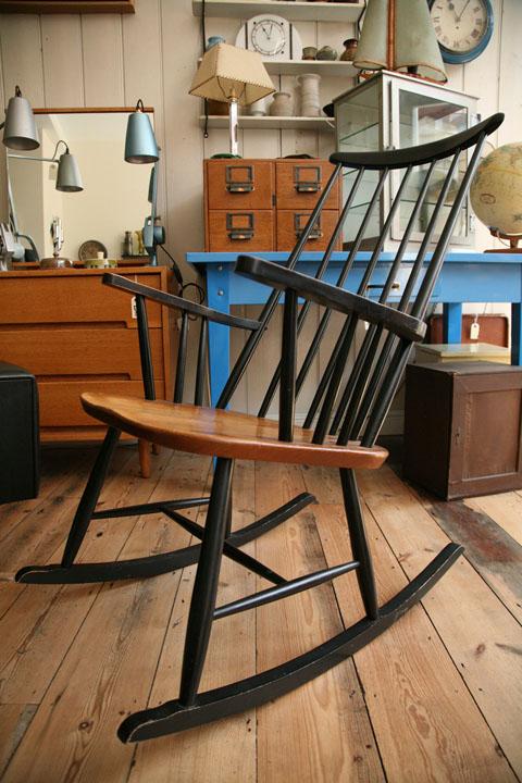 1950s Rocking Chair by Roland Rainer