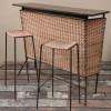 1950s Wicker Cocktail bar (1)