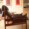 1960s Guy Rogers Leather Armchairs (2)