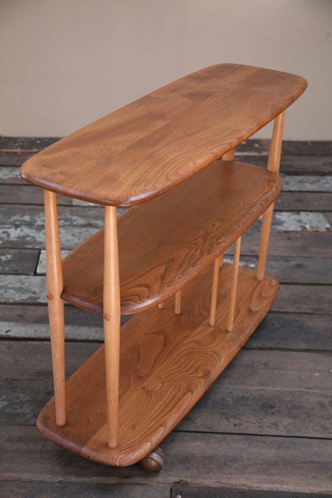 1960s Vintage Ercol Bookcase Trolley (2)