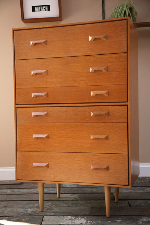 1960s oak Chest of Drawers by Stag UK