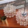 1970s Glass Brass Bubble Pendant Lights (2)
