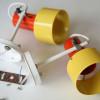 1970s Prova Yellow Orange Wall Lights (3)