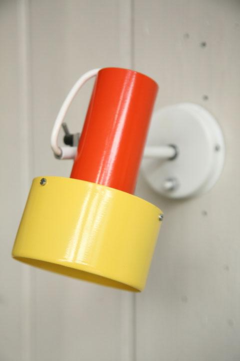 1970s Prova Yellow Orange Wall Lights