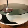 1970s Round Space Age Glass Coffee Table (2)