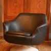 1970s Vinyl Swivel Chair