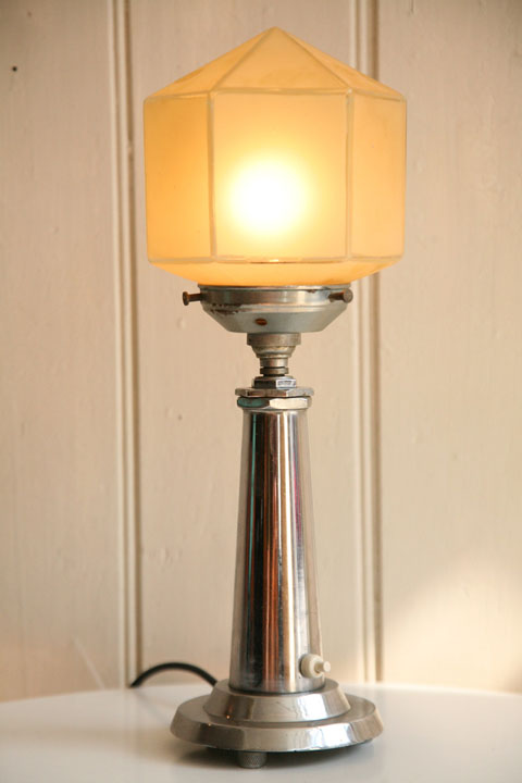 Art Deco Chrome Table Lamp