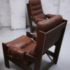 Brown Leather Vintage Chairs (1)