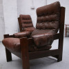 Brown Leather Vintage Chairs (2)
