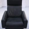 Danish Black Leather Swivel Chair (2)