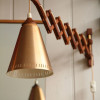Danish Teak Scissor Wall Light