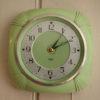 Green Bakelite Smiths Wall Clock (1)