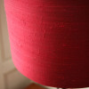 Large 1970s Chrome Red Table Lamp