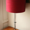 Large 1970s Chrome Red Table Lamp (2)