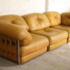 Large 1970s Leather Modular Sofa (2)