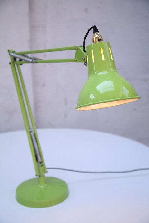 Large 1970s Lime Green Anglepoise Lamp