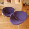 Pair of Purple Pierre Paulin Slice Chairs for Artifort (1)