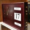Vintage Dark Wood Date Clock