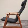 Vintage Modernist Teak Armchair (2)