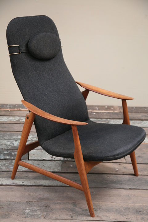 Vintage Modernist Teak Armchair