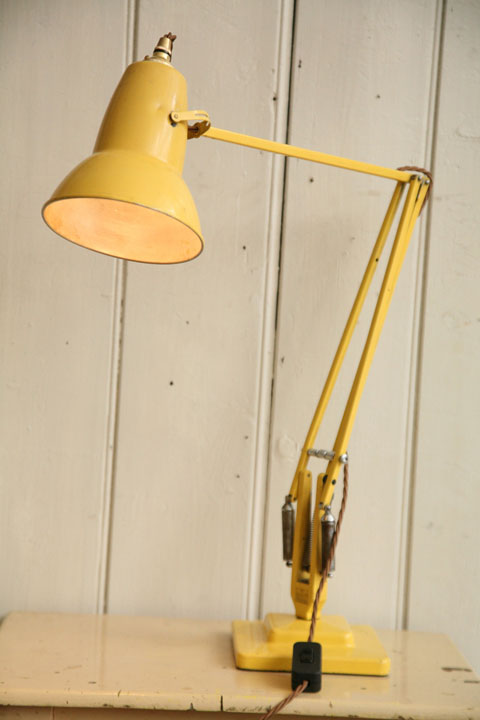 Vintage Yellow Anglepoise Desk Lamp