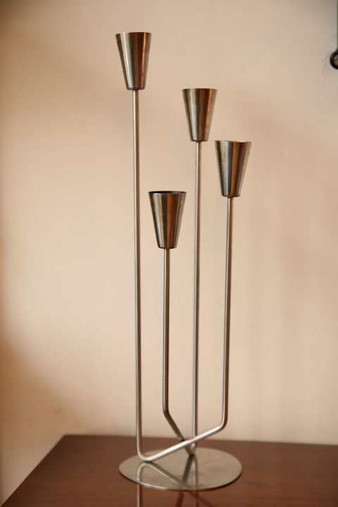 Danish Stainless Steel Candle Holder5