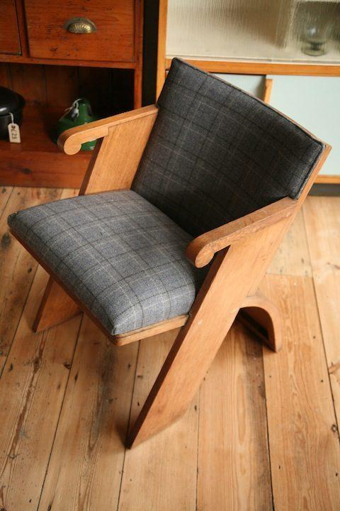 1930s Oak Side Chair (1)