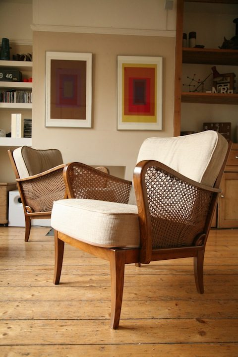 1950s Bergere Modernist Chairs