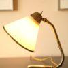 50s Small Desk Lamp Cream Plastic Shade (1)