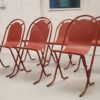 6 x 1950s Metal Stacking Garden Chairs (1)