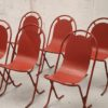 6 x 1950s Metal Stacking Garden Chairs