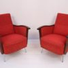 Pair of Red 1950s Lounge Chairs 2