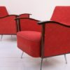 Pair of Red 1950s Lounge Chairs 3