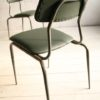 1950s Green Leather Industrial Side Chair