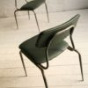 1950s Green Leather Industrial Side Chair1