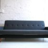 1950s Sofabed in Grey and Black Wool2