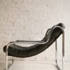 1970s Chrome & Leather Lounge Chair2