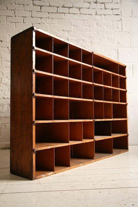 VIntage Post Office Pigeonhole Cabinet