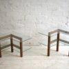 Vintage Oak Glass Display Shelves  5