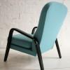 1950s Blue Wool Armchair 1