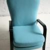 1950s Blue Wool Armchair 2