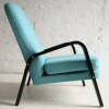 1950s Blue Wool Armchair 3