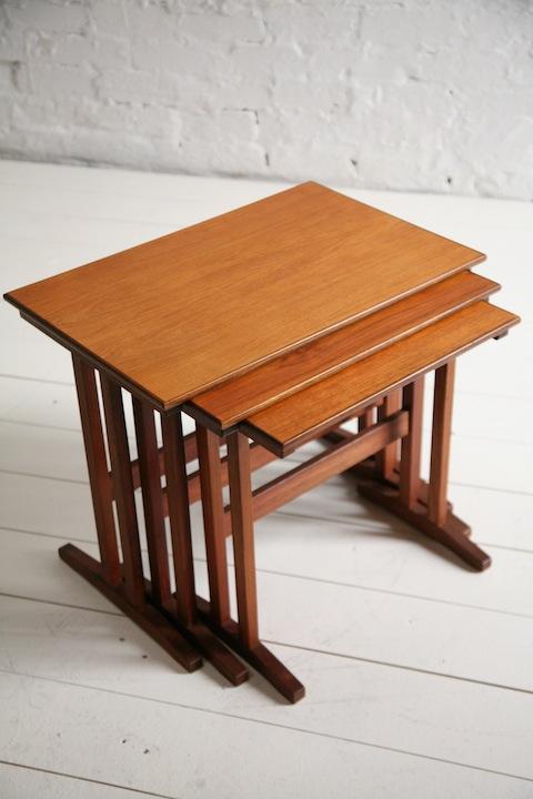 1960s Nest of Teak Tables