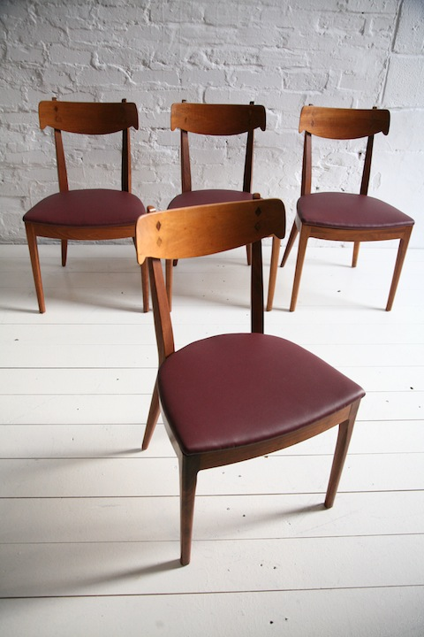 1960s Walnut Dining Chairs 1