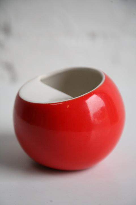 1970s Red Ceramic Ashtray