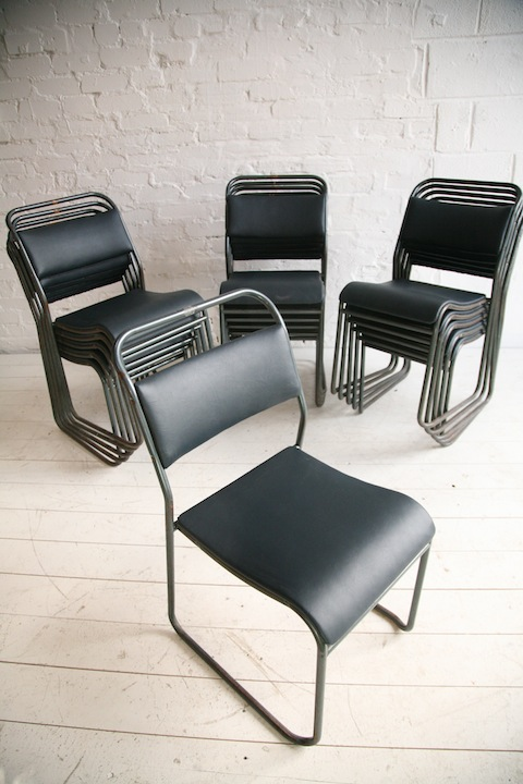 Industrial Stacking Chairs by Pel