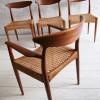 Set of 4 Dining Chairs by Arne Hovmand-Olsen for Mogens Kold Denmark1