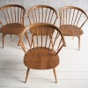 Vintage Ercol Cowhorn Dining Chairs 3